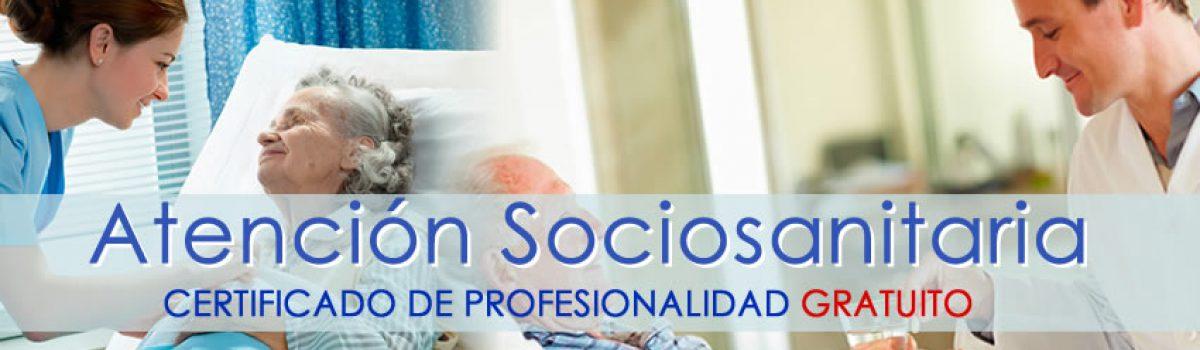 Certificado de Atención Sociosanitaria. CURSO GRATUITO.